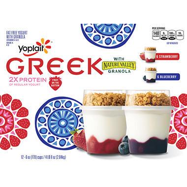 Yoplait® Greek Yogurt with Granola -  12 ct.
