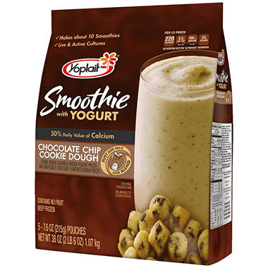 Yoplait Chocolate Chip Cookie Dough Smoothies - 7.6 oz. - 5 ct.