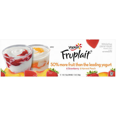 Yoplait� Fruplait Yogurt - 4 oz. Cups - 12 ct.