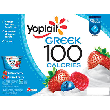 Yoplait Greek 100 Calorie Yogurt Variety Pack - 5.3 oz. - 12 pk.