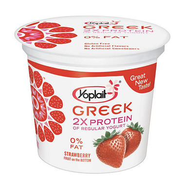 Yoplait® Greek Fruit on Bottom - Strawberry/Peach/Blueberry - 12 ct.