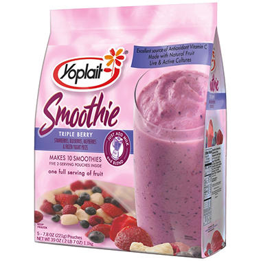 Yoplait Frozen Triple Berry Fruit Smoothie - 5 ct.