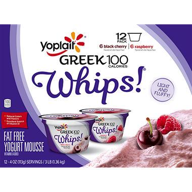 Yoplait Greek 100 Calorie Whips Yogurt Variety Pack (12 pk.)