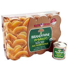 Brandywine Organic Mushrooms (12 cans, 4 oz. ea.)