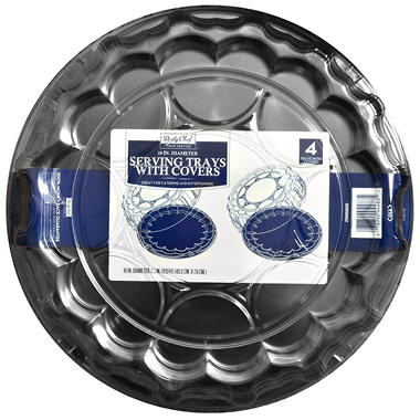 "Bakers & Chefs 16"" Serving Tray with Cover - 4 pk."