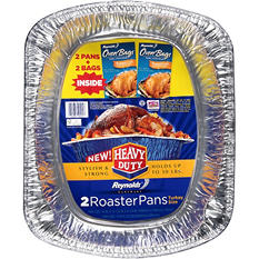Reynolds Bakeware Heavy Duty Turkey Size Roaster Pans - 2 ct.