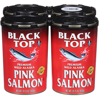 Black Top® Pink Salmon - 4/14.75 oz. cans