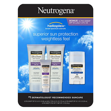 Neutrogena Ultra Sheer Sun Protection - 2 pk. - 3 fl. oz. + 1 fl. oz.