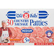 "Purnell's ""Old Folks""® Medium Country Sausage Patties - 3 lb."
