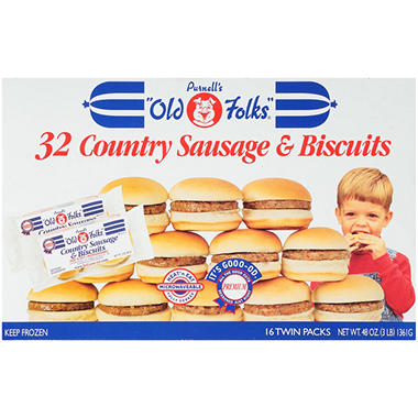Purnell's Country Sausage & Biscuits - 48 oz. - 32 ct.