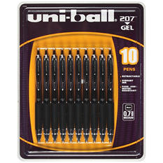 uni-ball - Signo Gel 207 Roller Ball Retractable Gel Pen, Black Ink, Medium - 10 Pens