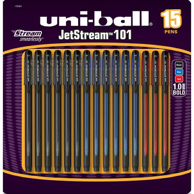 Uni-Ball Jetstream 101 - Assorted Colors - 12 Pack