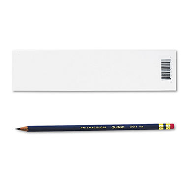 Prismacolor - Col-Erase Pencil with Eraser, Blue - 12 Pencils