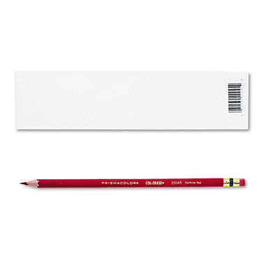 Prismacolor - Col-Erase Pencil with Eraser, Carmine Red - 12 Pencils