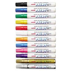Sanford - uni-Paint Marker, Medium Point, Assorted -  12/Set