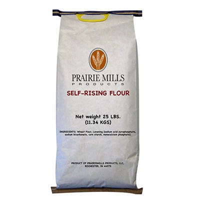 Prairie Mills Self Rising Flour - 25 lb. bag