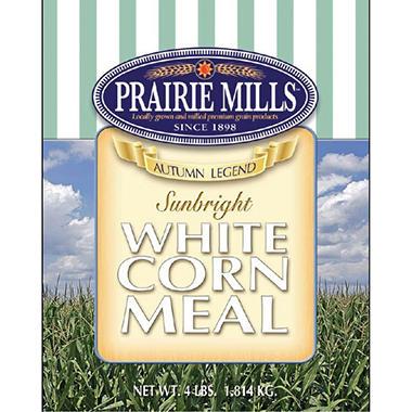 Prairie Mills White Corn Meal - 6 pk. - 4 lb. each
