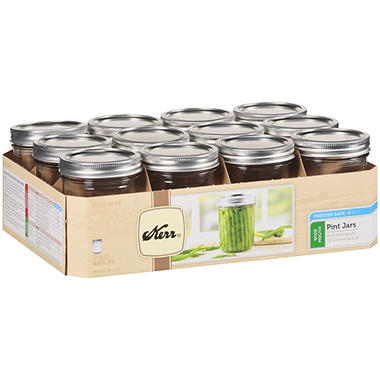 Kerr® Pint Wide Mouth Jars - 16oz/12 ct.