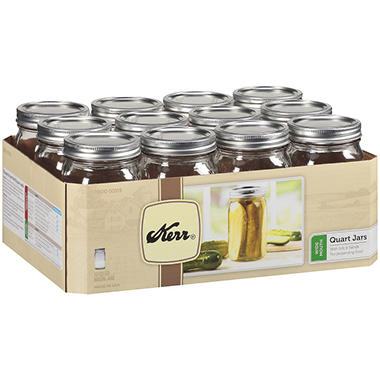 Kerr� Quart Wide Mouth Mason Jars - 32oz/12 ct.