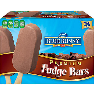 Blue Bunny® Premium Fudge Bars - 24/3 oz. bars