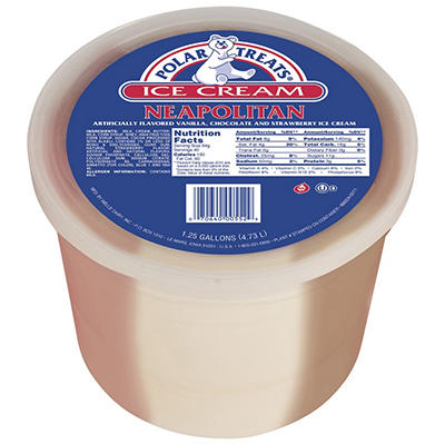 Polar Treats® Neapolitan Ice Cream - 1.25 gal.