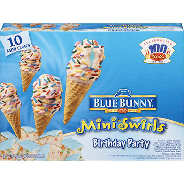 Blue Bunny Mini Swirl Cones Variety Pack - 20 ct.