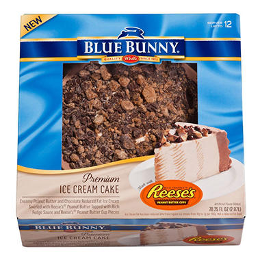 Blue Bunny Reese's Peanut Butter Cup Ice Cream Cake - 70.25 fl. oz.