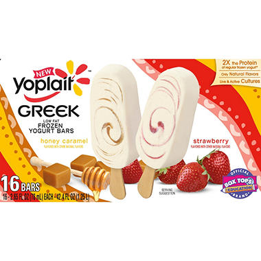 Yoplait Greek Yogurt Bars Variety Pack  - 16 ct.