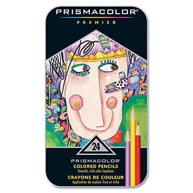 Prismacolor - Premier Colored Woodcase Pencils, Assorted Colors - 24 Pencils