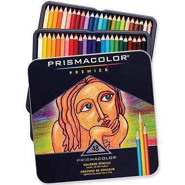 Prismacolor Premier Colored Woodcase Pencils, Assorted Colors - 48 Pencils