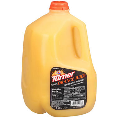 Turner Pure 100% Orange Juice - 1 gal.