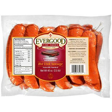 Evergood Louisiana Brand Hot Link Sausage 40oz Sam S Club