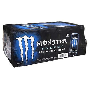 Monster Absolutely Zero Energy Drink , 16 oz. (24 pk.)