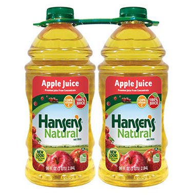 Hansen's 100% Apple Juice - 96 oz. - 2 ct.