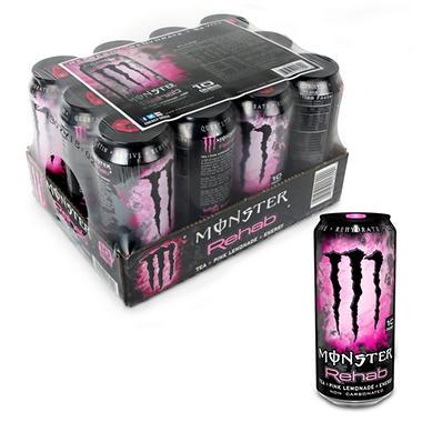 Monster Rehab Pink Lemonade,16 oz. (12 pk.)