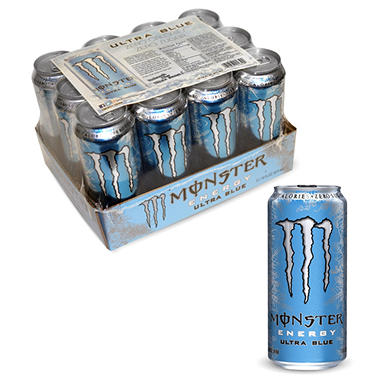 Monster Ultra Blue Energy Drink - 16 oz. cans - 12 pk.