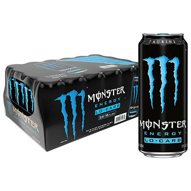 Monster Lo Carb Energy Drink - - 16 oz. - 24 pk.