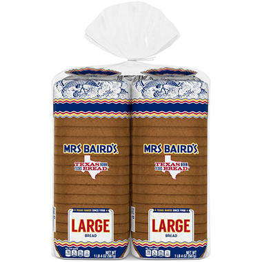 Mrs. Baird's Large White Bread (24 oz., 2 pk.)