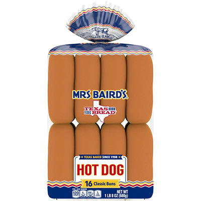 Mrs. Baird's Hot Dog Buns - 16 ct.