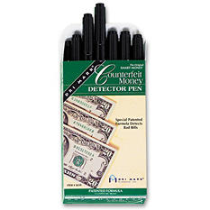 Dri Mark Smart Money Counterfeit Bill Detector Pen for Use with U.S. Currency - 12 pk.