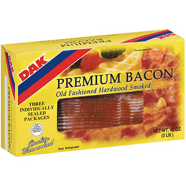 Dak Premium Bacon - 1 lb. - 3 ct.