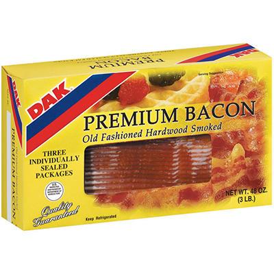 Dak Premium Bacon - 1 lb. - 3 ct.