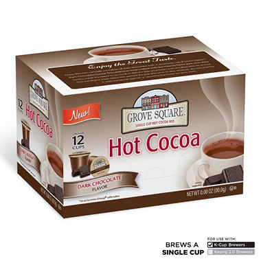 Grove Square Dark Chocolate Hot Cocoa, Single Serve (72 ct.)