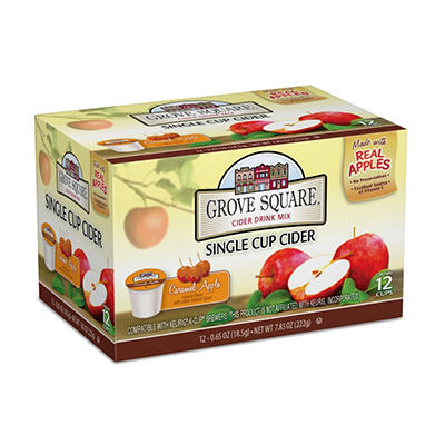 Grove Square Caramel Apple Cider, Single Serve (72 ct.)