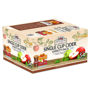Grove Square Single Cup Cider Variety Pack, Single Serve (54 ct.)
