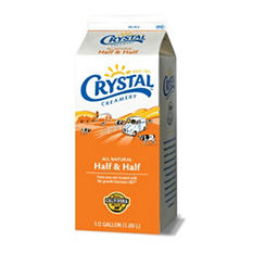 Crystal Creamery Half & Half (1/2 gal.)