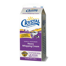 Crystal Creamery Heavy Whipping Cream (1/2 gal.)