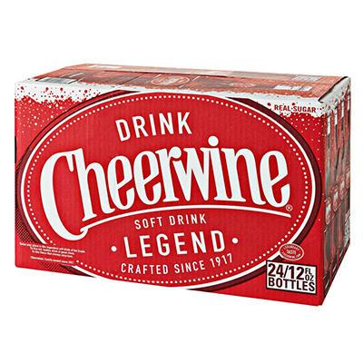 Cheerwine - 12 oz. longneck glass bottle - 24 pk.