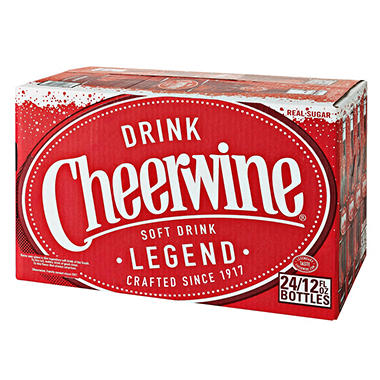 Cheerwine Cherry Soft Drink (12 oz bottles, 24 ct.)