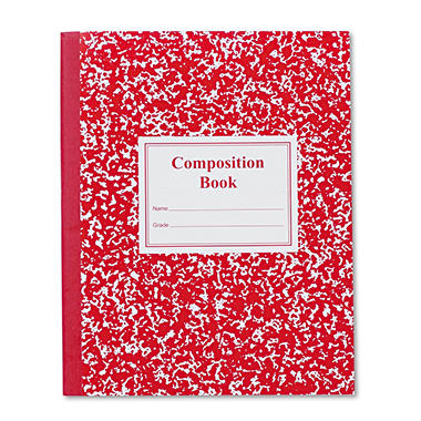 Roaring Spring Grade School Ruled Composition Book, 9-3/4 x 7-3/4, WE/BE, 50 Pages